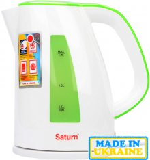 Електрочайник SATURN ST-EK8437 White/Lt. Green