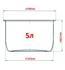 Чаша для мультиварки Redmond RB-A543