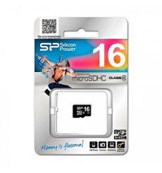 Карта пам'яті Silicon Power MicroSDHC 16GB Class 4 (SP016GBSTH004V10)