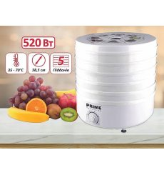 Сушарка для овочів і фруктів PRIME Technics PFD 502 W